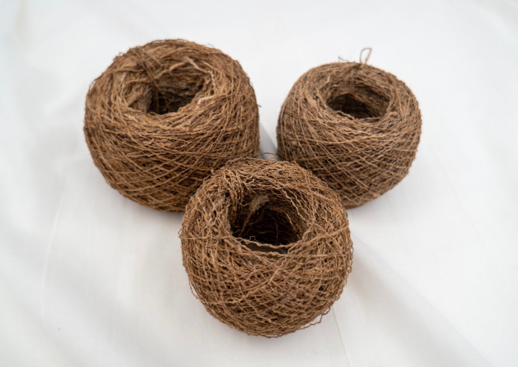 Rough Ghicha Wild Tussar Silk Yarn Ball
