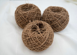 Thick Tussar Silk Yarn - Dark Ball