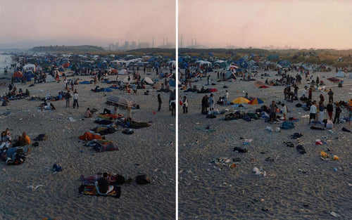 Massimo Vitali - Rosignano Dawn Diptych (Left and Right), 2002