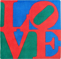 Robert Indiana - Classic LOVE - Blue, Green and Red (rug), 2007