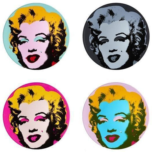 Andy WARHOL - Set of 4 plates