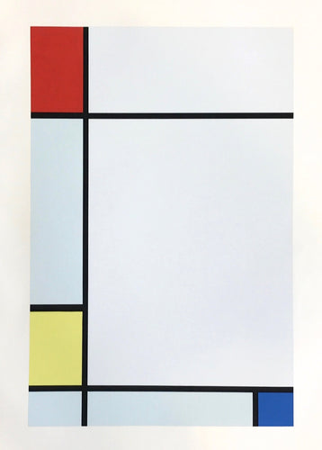 Piet Mondrian - Composition rouge, jaune, bleu (set of 2), 1957