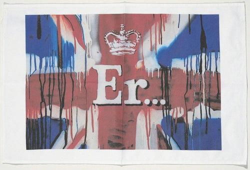 Banksy - Er... (Union Jack Tea Towel), 2012