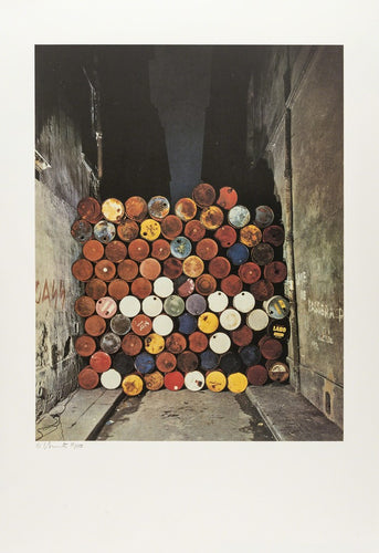 Wall of Oil Barrels- The Iron Curtain, Rue Visconti, Paris, 1961-62, 1990