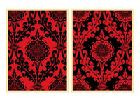 Shepard Fairey - Parlor Pattern Red and Black diptych, 2010