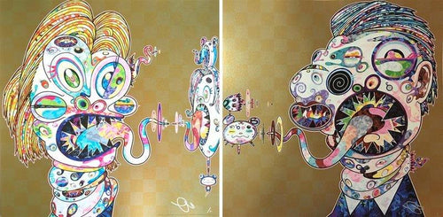 Takashi Murakami - Homage to Francis Bacon (Study for Head of Isabel Rawsthorne and George Dyer), 2016