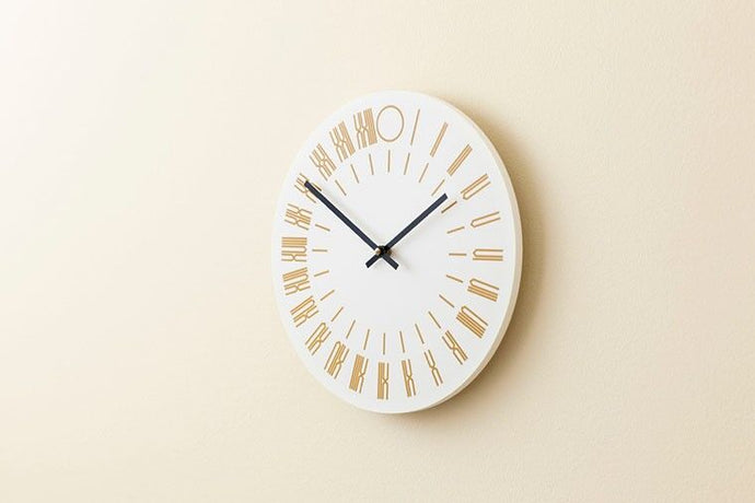 24-hour analog wall clock, 2012