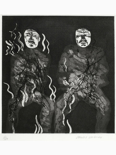 David Hockney - Corpses on Fire, 1969