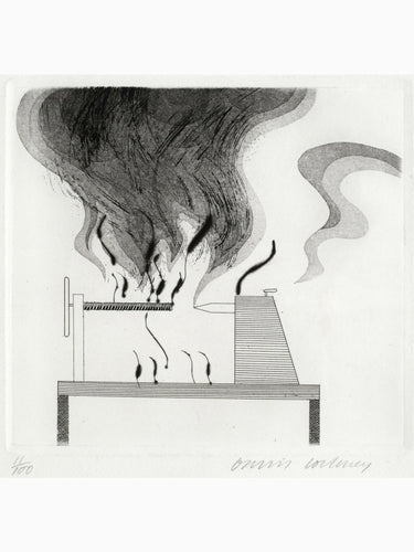 David Hockney - The Lathe & the fire, 1969