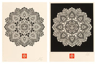 Shepard Fairey - Mandala Ornament (set of 2), 2010