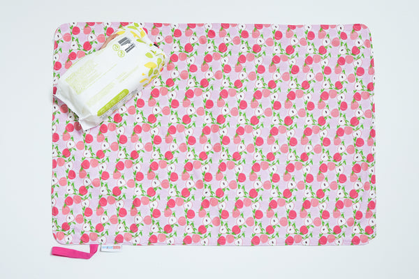 Waterproof Changing Mat - Sweet Peaches (L)