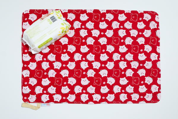 Waterproof Changing Mat - Red Piggy (L)