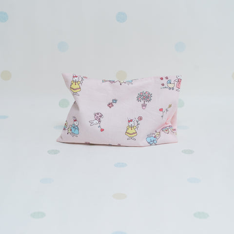 Beansprout Husk Pillow - Pink Garden Bunnies (Handy)