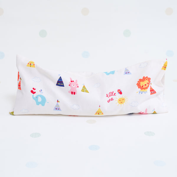 Beansprout Husk Pillow - Camping Buddies (Cream)