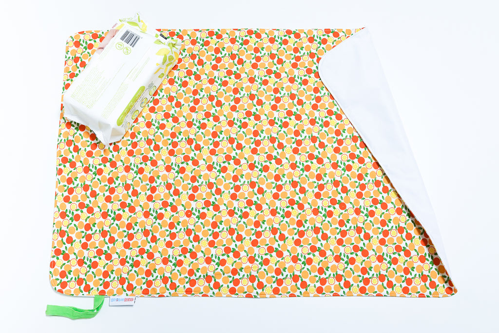 Waterproof Changing Mat - Petite Oranges