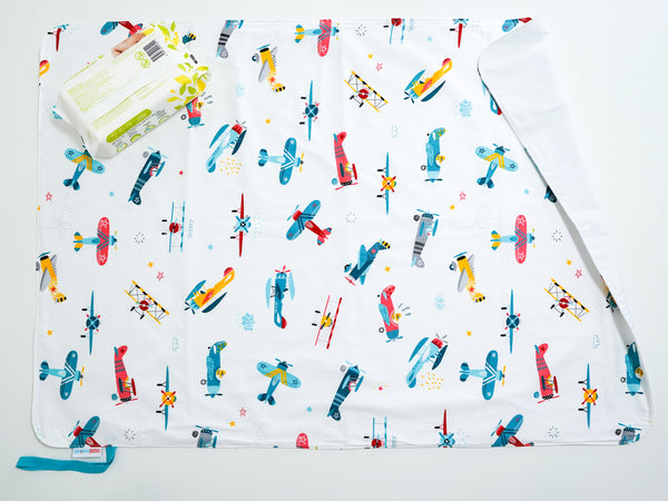 Waterproof Changing Mat - Air Planes