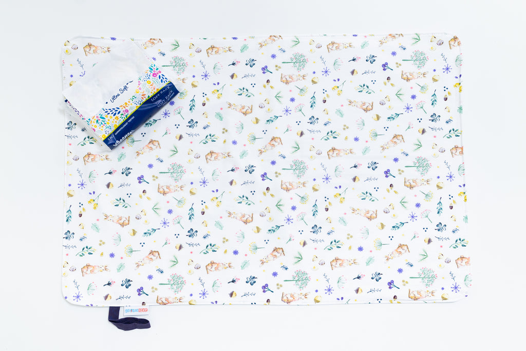 Waterproof Changing Mat - Wild Rabbits