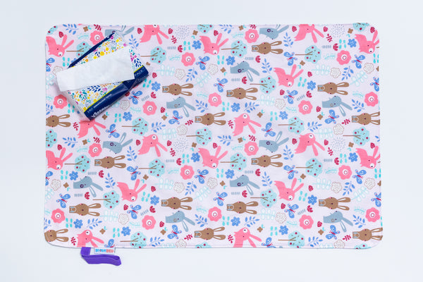 Waterproof Changing Mat - Hoppy Bunny