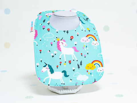 Baby Bib - Unicorns Rainbows