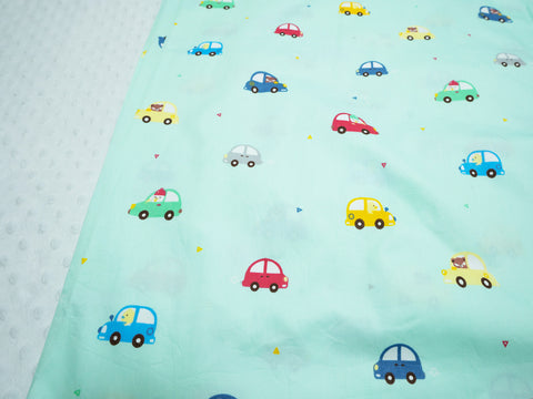 Minky Blanket - Animal Cars