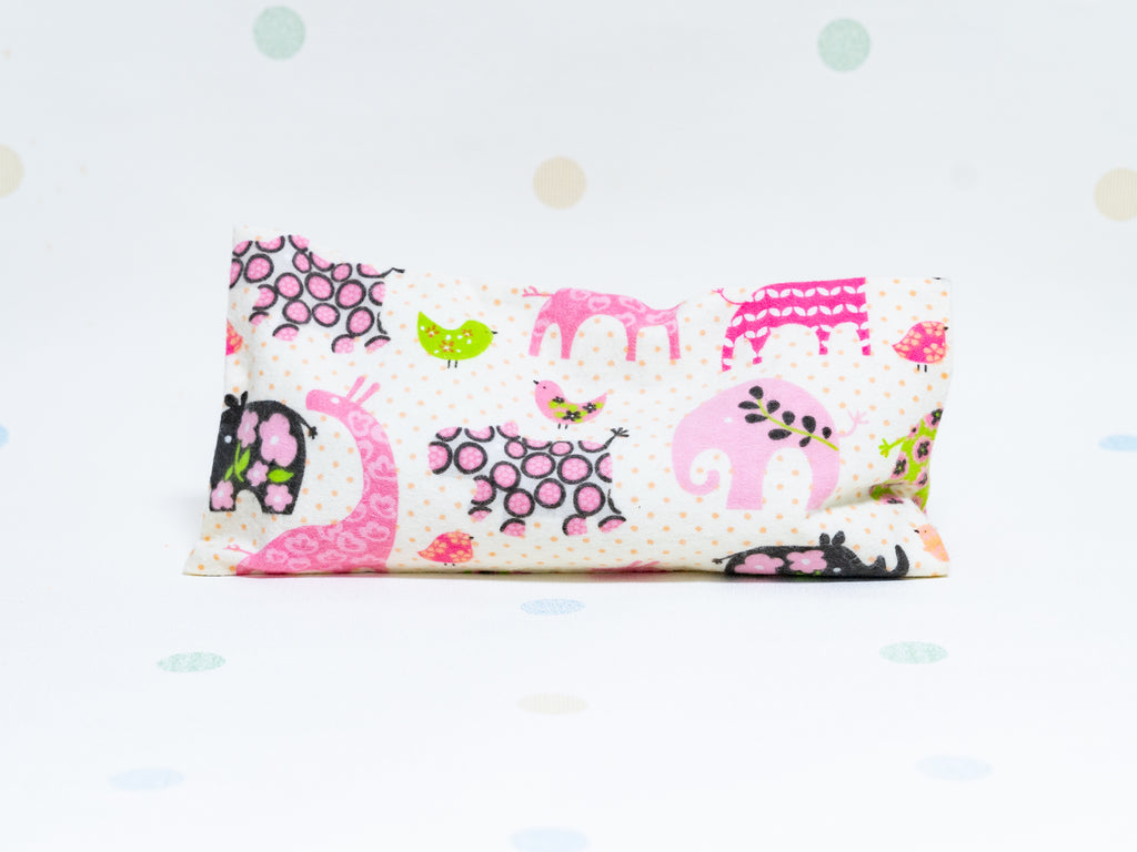 Beansprout Husk Pillow - Pink Mystical Animals (Flannel)