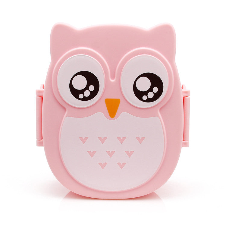 Lunch box hibou rose kawaii mignonne