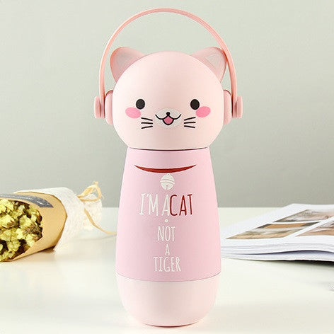 Mug thermique thermos chat rose mignon kawaii