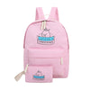 Sac à dos rose licorne étudiante scolaire nothing's impossible