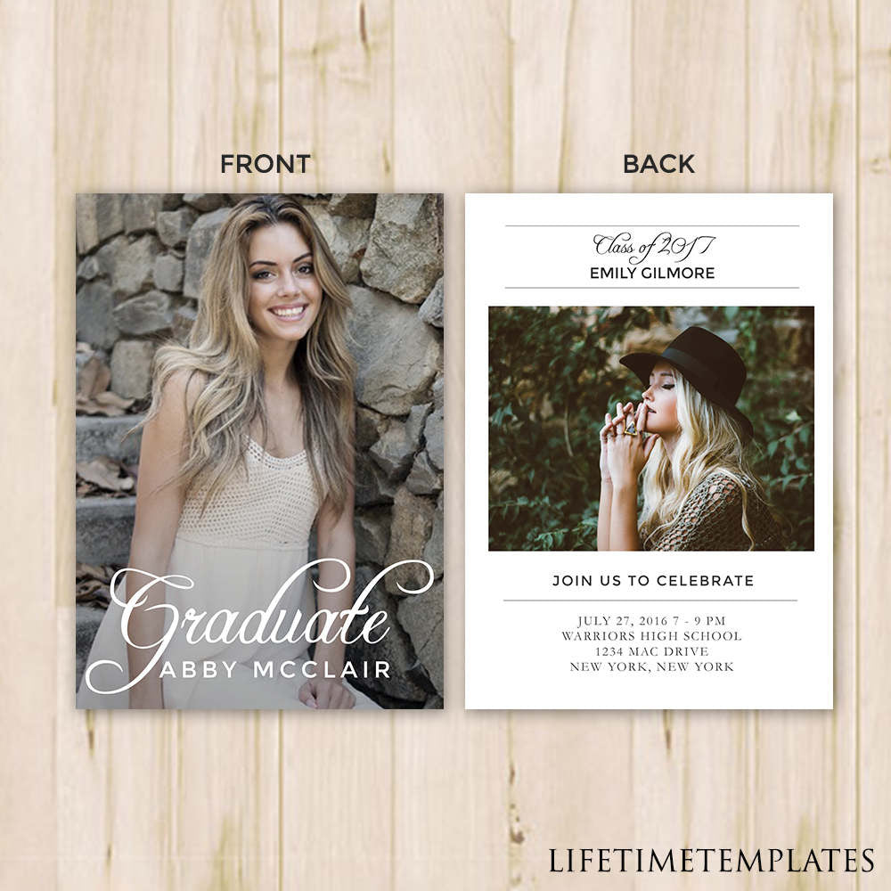 graduation announcement template 5x7 graduation card template