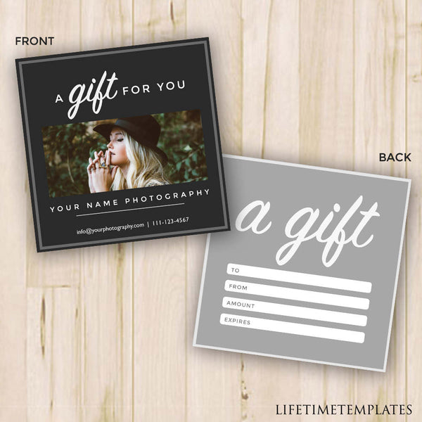 Gift Certificate Photography Gift Certificate Template Photoshop