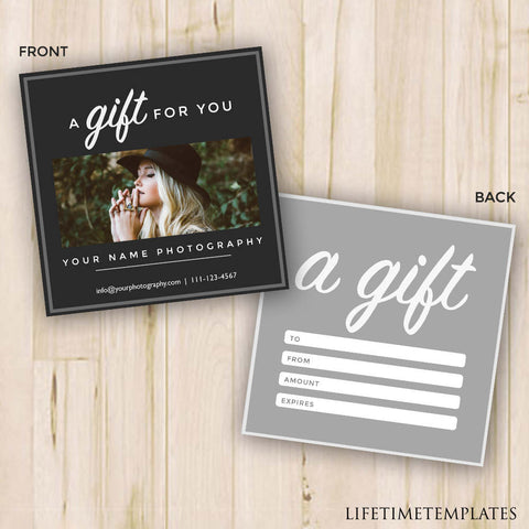 Gift certificates sxstudio gift certificate photography gift certificate template photoshop template psd instant download yelopaper Gallery