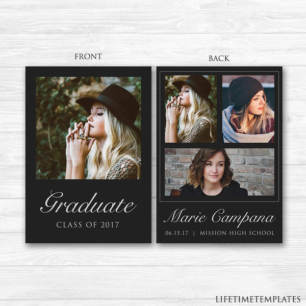 elegant graduation announcement template 5x7 graduation card