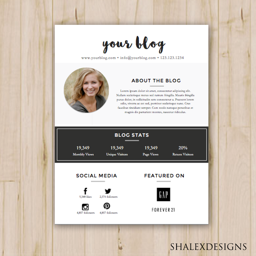 2 pack blogger media kit and rate kit template ms word instant 2 pack blogger media kit and rate kit template ms word instant download maxwellsz