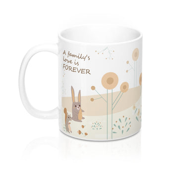 A Family's Love is Forever – Unwind with our Lovely Designer Woodland Animals Ceramic Mug – 11oz