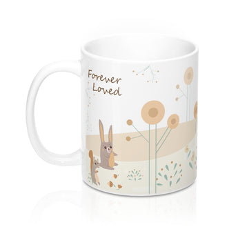 Forever Loved – Unwind with our Lovely Designer Woodland Animals Ceramic Mug – 11oz