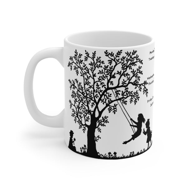 Monday's Child – Unwind with our Inspirational Ceramic Mug – 11oz