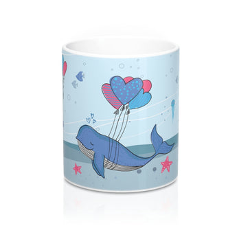 Unwind with our Lovely Designer Under-The-Sea Ceramic Mug – 11oz