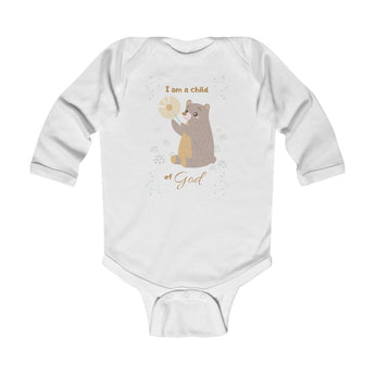Child of God – Bear – Christian-Themed Infant & Toddler Long-Sleeve Bodysuit – Unisex