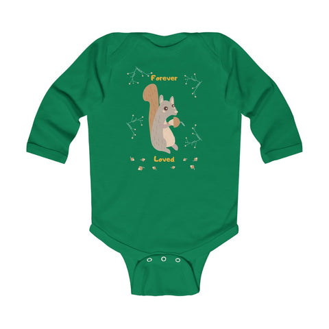 Forever Loved – Squirrel – Infant & Toddler Long-Sleeve Bodysuit - Unisex
