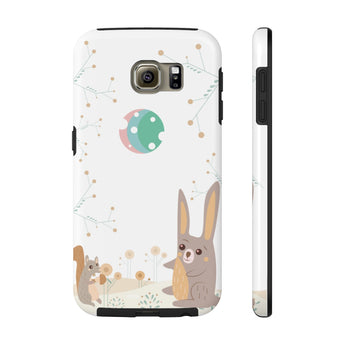 Impact-Resistant Phone Case for Samsung Galaxy S6 - Woodland Animals