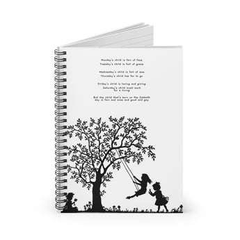 Monday's Child – Inspirational Spiral Notebook – Lined – For Those Precious Moments