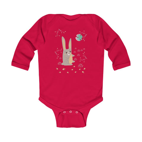 Woodland Hare – Infant & Toddler Long-Sleeve Bodysuit - Unisex