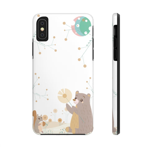 Impact-Resistant Phone Case for iPhone X - Woodland Animals