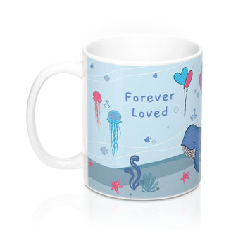 Forever Loved – Unwind with our Lovely Designer Under the Sea Ceramic Mug – 11oz