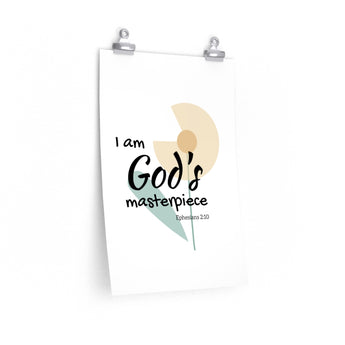 "God's Masterpiece – Flower – Inspirational Christian Art Poster – Premium Matte, 12"" x 18"""