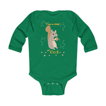 Child of God – Squirrel – Christian-Themed Infant & Toddler Long-Sleeve Bodysuit – Unisex