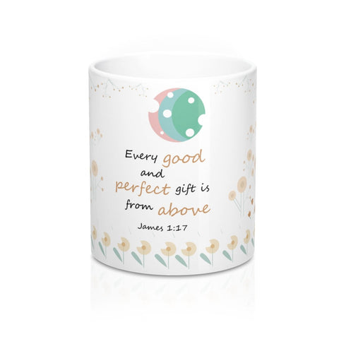 Every Good And Perfect Gift Is From Above - Woodland Animals Ceramic Mug, 11 oz - Perfect Christian Gift