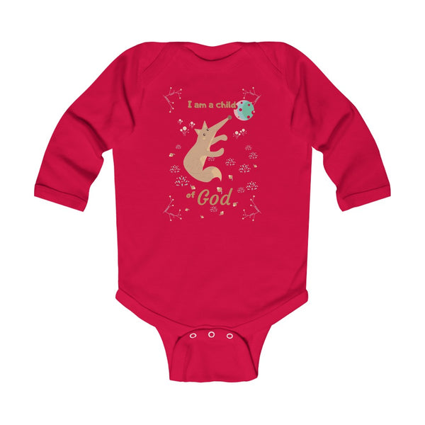 Child of God – Fox – Christian-Themed Infant & Toddler Long-Sleeve Bodysuit – Unisex