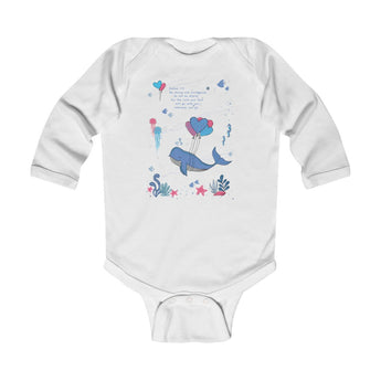 Be Strong and Courageous - Under-The-Sea – Infant & Toddler Long-Sleeve Bodysuit