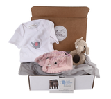 Baby Gifts that Give Back - Socially Responsible Gifts - Save the Elephants - Pink